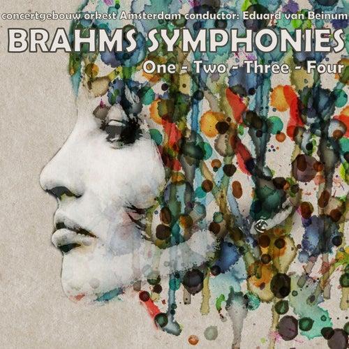 Brahms Symphonies No's 1, 2, 3 & 4 by Eduard Van Beinum