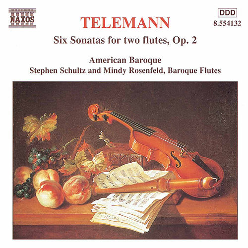 Six Sonatas for two flutes, Op. 2 by Georg Philipp Telemann