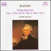 String Quartets Opp. 1 and 2 by Franz Joseph Haydn