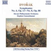Symphonies Nos. 4 and 8 by Antonin Dvorak