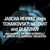 Jascha Heifetz plays Tchaikovsky, Mozart and Glazunov by London Philharmonic Orchestra