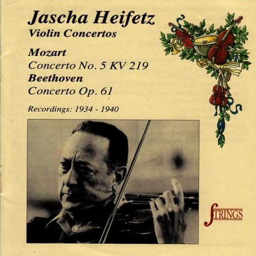 Mozart, Beethoven: Violin Concertos by Jascha Heifetz