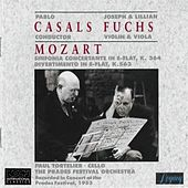 Mozart: Sinfonia Concertante For Violin And Viola, K 364; Divertimento In E-flat, K 563 by Joseph Fuchs