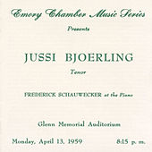 The Atlanta Recital, 13 April 1959, Glenn Memorial Auditorium by Jussi Björling