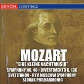 Mozart: Eine Kleine Nachtmusik, Symphony No. 40 and Divertimento K. 136 by Various Artists