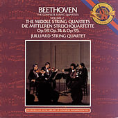 Beethoven: The Middle String Quartets by Juilliard String Quartet