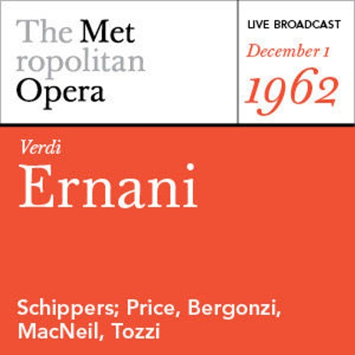 Verdi: Ernani (December 1, 1962) by Various Artists