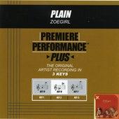 Plain (Premiere Performance Plus Track) by ZOEgirl