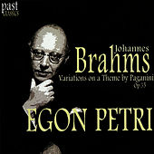 Brahms: Variations on a Theme by Paganini, Op. 35 by Egon Petri