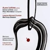 Mathieu, Shostakovich, Mendelssohn: Concertino & Concertos by Alain Lefèvre