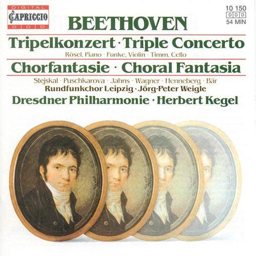 BEETHOVEN, L. van: Triple Concerto / Choral Fantasy (Rosel, Funke, Timm, Leipzig Radio Chorus, Dresden Philharmonic, Kegel) von Various Artists