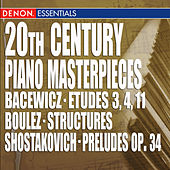 20th Century Piano Masterpieces by Various Artists