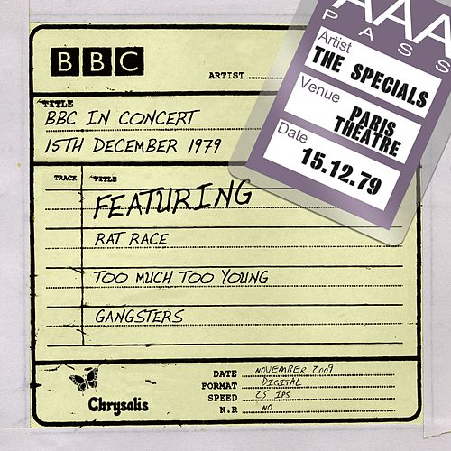 BBC In Concert (15th December 1979, In Concert Paris Theatre recorded: 15/12/79) by The Specials