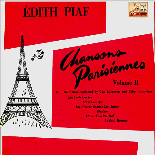 Vintage French Song Nº 82 - EPs Collectors, 'Chansons Parisiennes' by Edith Piaf