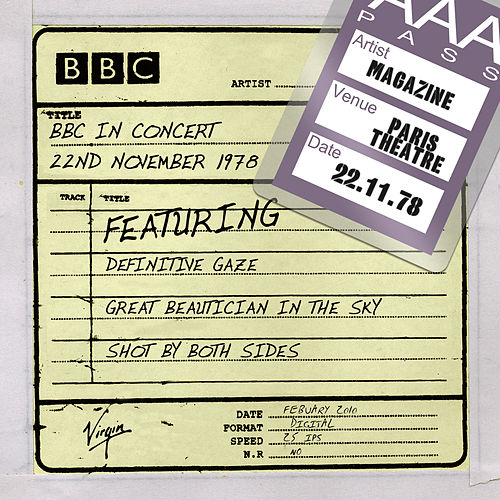BBC In Concert (22nd November 1978) by Magazine