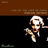 Live At The Café De Paris by Marlene Dietrich
