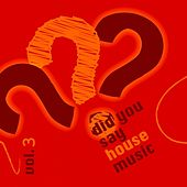 Did You Say House Music?, Vol. 3 by Various Artists