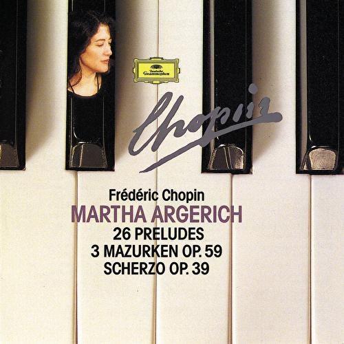 Chopin Compact Edition 1991: 24 Préludes Op. 28; Prélude Op. 45; Prélude Op. posth.; 3 Mazurkas Op. 59; Scherzo Op. 39 by Martha Argerich