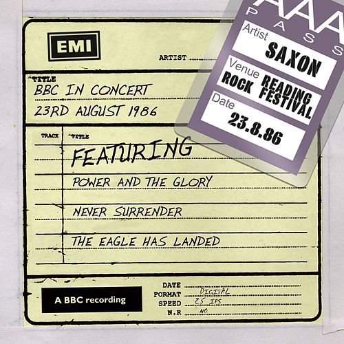 BBC In Concert (23rd August 1986) by Saxon