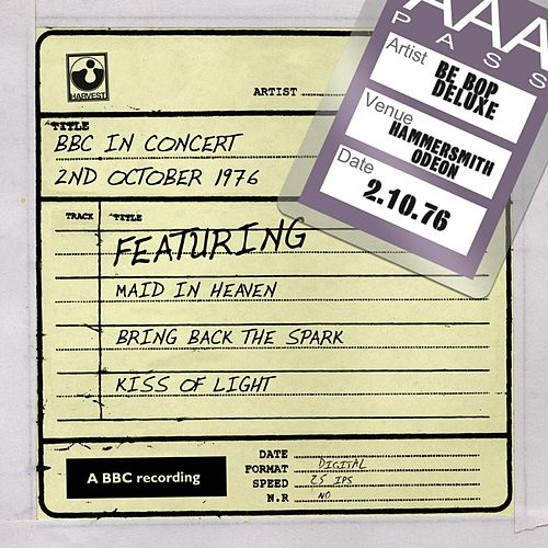 BBC In Concert (2nd October 1976) by Be-Bop Deluxe