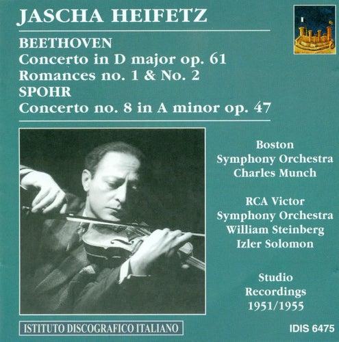 Beethoven, L. Van: Violin Concerto, Op. 61 / Romances Nos. 1 and 2 / Spohr, L.: Violin Concerto No. 8 (Heifetz) (1951, 1954, 1955) by Jascha Heifetz
