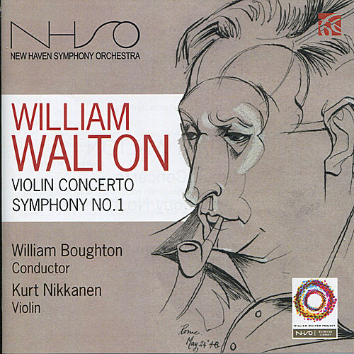 Walton: Violin Concerto, Symphony No. 1 by New Haven Symphony Orchestra