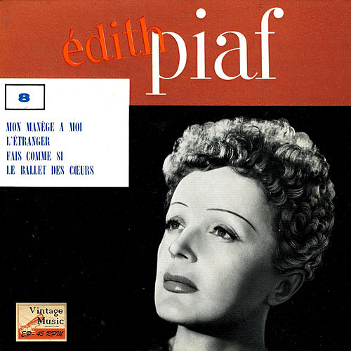 Vintage French Song Nº 51 - EPs Collectors 'Mon Manège A Moi' by Edith Piaf