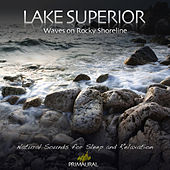 Lake Superior - Waves On Rocky Shoreline by Tim Nielsen