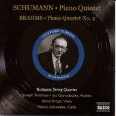 Schumann: Piano Quintet, Op. 44 / Brahms: Piano Quartet No. 2 (Curzon, Budapest Quartet) (1951-1952) by Clifford Curzon