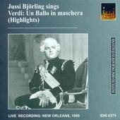 Verdi, G.: Un Ballo in Maschera (Highlights) (Bjorling) (1950) by Various Artists