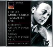 Beethoven, L. Van: Violin Concerto, Op. 61 / Brahms, J.: Violin Concerto, Op. 77 (Heifetz) (1935, 1956) by Jascha Heifetz