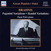Brahms: Paganini and Handel Variations (Petri) (1937-1940) by Egon Petri