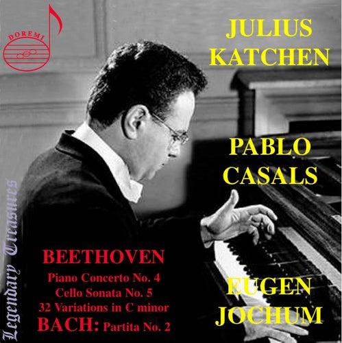 Julius Katchen plays: Bach: Partita No. 2 - Beethoven: 32 Variations in C Minor, Piano Concerto No. 4 & Sonata for Cello & Piano by Julius Katchen