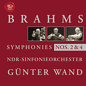 Brahms: Symphonies 2 + 4 by Günter Wand