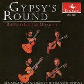 Guitar Quartet Arrangements - Byrd, W. / Praetorius, M. / Telemann, G.P. / Dowland, J. / Bull, J. (Gypsy's Round) by Buffalo Guitar Quartet