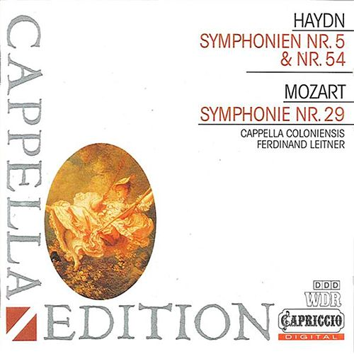 Haydn: Symphonies Nos. 5 & 54 - Mozart: Symphony No. 29 by Ferdinand Leitner