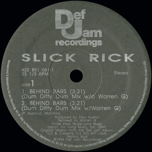 Behind Bars by Slick Rick