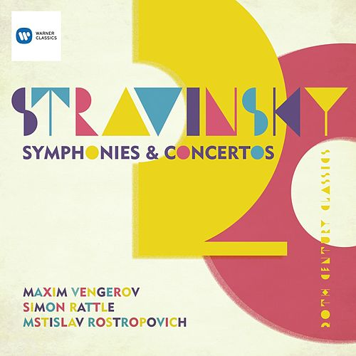Stravinsky: Symphony in Three Movements; Violin Concerto; Symphonies of Wind Instruments; Capriccio for piano & orchestra; Pulcinella etc by Various Artists