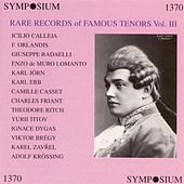 Rare Records of Famous Tenors, Vol. 3 (1905-1930) by Various Artists