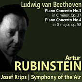 Beethoven: Piano Concertos No. 3 and No. 4 by Artur Rubinstein