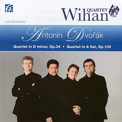 Dvořák: String Quartets in D Minor Op.34 & A Flat Op.105 by Wihan Quartet