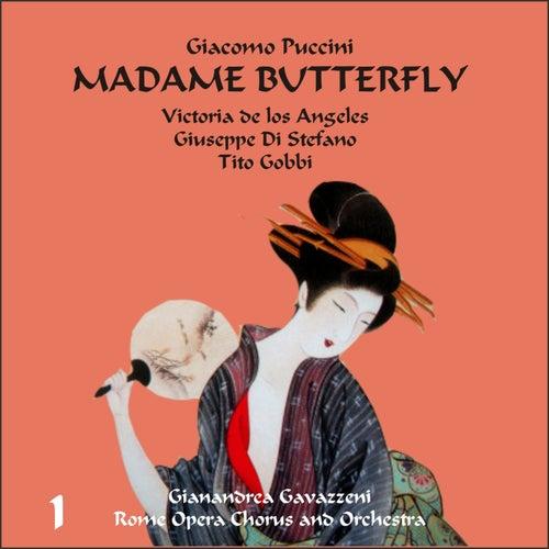 Giacomo Puccini: Madame Butterfly (Gavazzeni, De Los Angeles, Di Stefano), Vol. 1 by Rome Opera Chorus and Orchestra