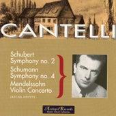 Schumann: Symphony No. 4 in D Minor Op.120 - Schubert: Symphony No. 2 in B Flat Major D. 125 - Mendelssohn: Violin Concerto in E Minor Op.64 by Jascha Heifetz
