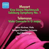 Mozart: Kleine Nachtmusik (Eine) / Divertimento, K. 136 / Telemann: Viola Concerto (Munchinger) (1951-1952) by Karl Munchinger