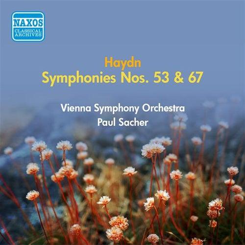 Haydn, J.: Symphonies Nos. 53, 67 (Vienna Symphony, Sacher) (1954) by Paul Sacher