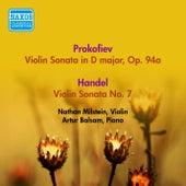 Prokofiev, S: Violin Sonata, Op. 94A / Handel, G.F.: Violin Sonata in D Major, Hwv 371 / Vitali, T.: Chaconne (Milstein) (1955) by Nathan Milstein