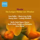 Nicolai, O.: Lustigen Weiber Von Windsor (Die) (Strienz, Hann, Rother) (1943) by Walther Ludwig
