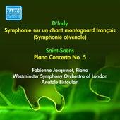 Indy, V.: Symphonie Sur Un Chant Montagnard Francais / Saint-Saens, C.: Piano Concerto No. 5,