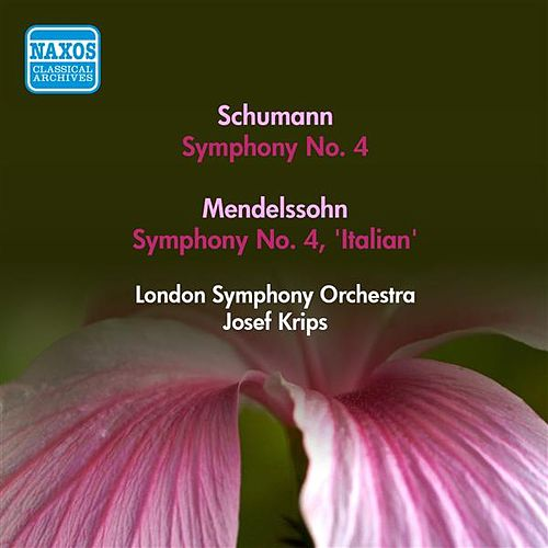 Schumann, R.: Symphony No. 4 / Mendelssohn, F.: Symphony No. 4, 'Italian' (Krips) (1953) by Josef Krips