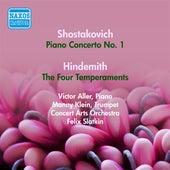 Shostakovich, D.: Piano Concerto No. 1 / Hindemith, P.: The 4 Temperaments (Aller) (1953) by Felix Slatkin